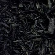 dyed black mulch
