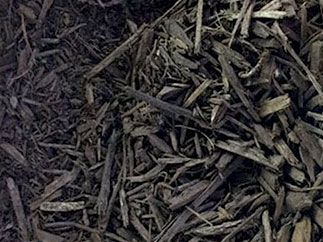 dyed brown mulch